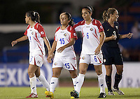 Monica Malassi (C) of Costa Rica. USWNT vs Costa Rica in the 2010 CONCACAF Women's World Cup Qualifying tournament held at Estadio Quintana Roo in Cancun, Mexico on November 1st, 2010.