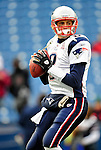 20 December 2009: New England Patriots' quarterback Brian Hoyer warms up prior to facing the Buffalo Bills at Ralph Wilson Stadium in Orchard Park, New York. The Bills defeated the Patriots 17-10. Mandatory Credit: Ed Wolfstein Photo