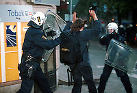 A demonstration held during an EU summit in Gothenburg exploded into violence. Anti-globalisation and anti-EU protesters clashed with police, who then fired live rounds which hit three people.