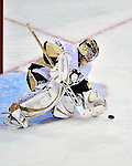 21 September 2009: Pittsburgh Penguins' goaltender John Curry makes a first period save during a pre-season game against the Montreal Canadiens at the Bell Centre in Montreal, Quebec, Canada. The Canadiens edged out the defending Stanley Cup Champions 4-3. Mandatory Credit: Ed Wolfstein Photo