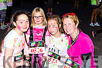 Aine Martin, konnie, Emma  and Mary O'Callaghan  at the Killarney Glow Neon run on Saturday night