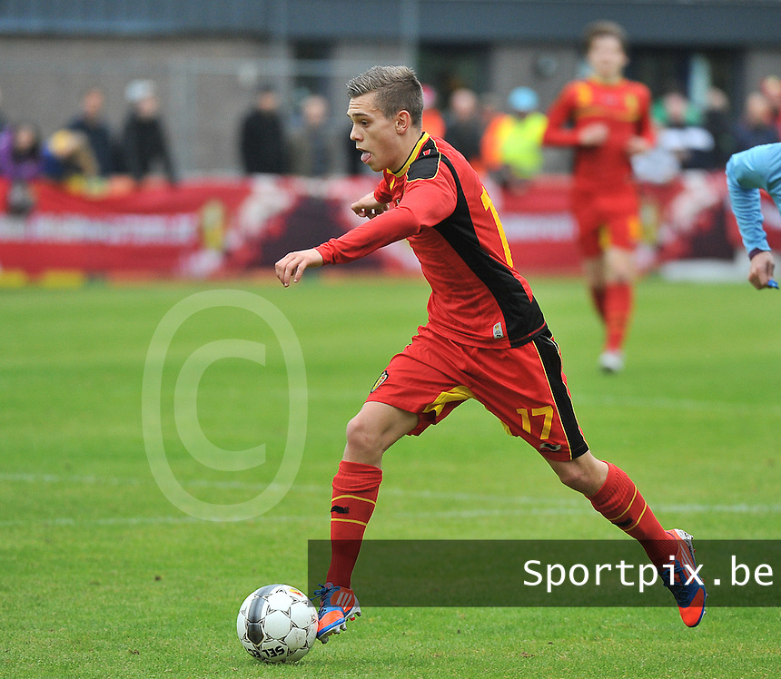 Georgia U19 - Belgium U19 : Leandro Trossard<br /> foto DAVID CATRY / Nikonpro.be