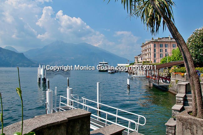 The ferry docks at Bellagio on Lake Como, Italy