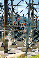 ELECTRIC POWER SUBSTATION<br /> Electrical Sub-station<br /> At the substation the voltage may be transformed down to levels of 69,000 to 138,000 V for further transfer on the subtransmission system.