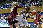14 December 2015: Duke's Azura Stevens (11) and UMass's Maggie Mulligan (00). The Duke University Blue Devils hosted the University of Massachusetts Minutewomen at Cameron Indoor Stadium in Durham, North Carolina in a 2015-16 NCAA Division I Women's Basketball game. Duke won the game 70-46.