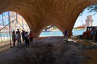 Venice, Italy - 15th Architecture Biennale 2016, &quot;Reporting from the Front&quot;.<br /> Arsenale.<br /> Norman Foster Foundation,<br />Future Africa EPFL, Ochsendorf,<br />DeJong &amp; Block<br />Block Research Group, ETH Z&uuml;rich.