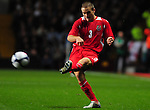 Jamie O'Hara crosses. England U21 V Wales U21, Uefa European U21 Championship qualifying play-off second leg  &copy; Ian Cook IJC Photography iancook@ijcphotography.co.uk www.ijcphotography.co.ukUnholy Alliance Tour 2008,