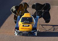 Feb 24, 2017; Chandler, AZ, USA; NHRA funny car driver J.R. Todd during qualifying for the Arizona Nationals at Wild Horse Pass Motorsports Park. Mandatory Credit: Mark J. Rebilas-USA TODAY Sports