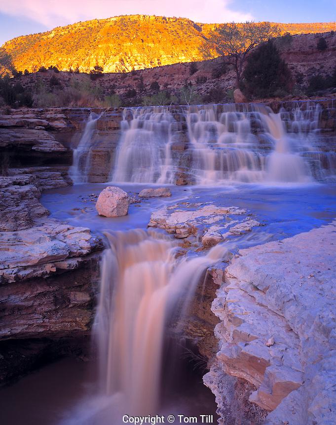 Three Falls, La Verkin Creek, Utah