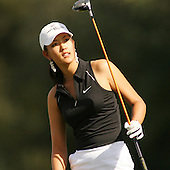 March 27, 2005; Rancho Mirage, CA, USA;  15 year old amateur Michelle Wie watches her ball go into the rough on the 2nd hole during the final round of the LPGA Kraft Nabisco golf tournament held at Mission Hills Country Club.  Wie shot a 1 under par 71 for the day and an even par 288 for the tournament and finished tied for 14th and won the award for low amateur.<br />
