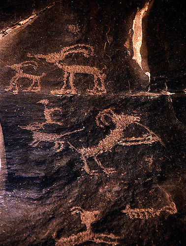 ancient man scribbled his thoughts on rock walls