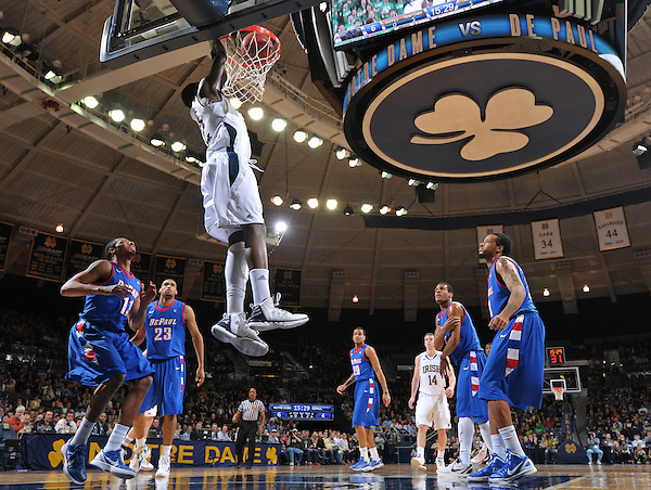 Jerian Grant (22) dunks in the first half.