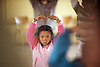 South Africa,Smitsville.<br /> A young dancer receives dancing tuition. The <br /> Dance for All outreach project teaches to rural children in a small village,Smitsville near Barrydale.<br /> Photography by Richard Olivier&copy;2009<br /> DSC_4159