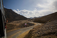 Scenery on 1st June 2009 of the Himalayan desert valley of Ladakh, in Jammu & Kashmir, India.  Photo by Suzanne Lee