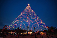 Austin rings in the holiday season with its annual lighting of the Zilker Christmas Tree in Zilker Park in downtown Austin, Texas.