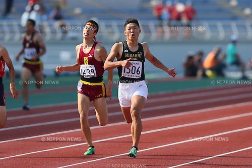 Daisuke Funato, JULY 29, 2015 - Athletics : 2015 All-Japan Inter High School Championships, Men's 400m Final at Kimiidera Athletic Stadium, Wakayama, Japan. (Photo by YUTAKA/AFLO SPORT)