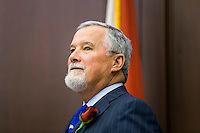 TALLAHASSEE, FLA. 1/12/16-Sen. Garrett Richter, R-Naples, takes in the opening day of the 2016 legislative session, Tuesday at the Capitol in Tallahassee.<br /> <br /> COLIN HACKLEY PHOTO