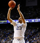 UK guard Jamal Murray (23) shoots a three pointer during the UK Men's Basketball vs. Florida Gators game at Rupp Arena. Saturday, February 6, 2016 in Lexington, Ky. UK defeated Florida 80 - 61