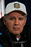 Argentina soccer coach Alejandro Sabella attends a press conference before a practice at Red Bull stadium ahead of his friendly match against Ecuador in New Jersey, Nov 13, 2013. VIEWpress/Eduardo Munoz Alvarez