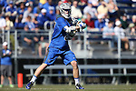 08 February 2015: Air Force's Jay Morgan. The Duke University Blue Devils hosted the United States Air Force Academy Falcons at Koskinen Stadium in Durham, North Carolina in a 2015 NCAA Division I Men's Lacrosse match. Duke won the game 13-7.