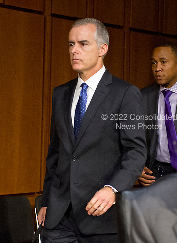 Acting Director of the Federal Bureau of Investigation (FBI) Andrew McCabe arrives to testify before the United States Senate Select Committee on Intelligence for an open hearing titled &quot;Worldwide Threats&quot; on Capitol Hill in Washington, DC on Thursday, May 11, 2017.  <br /> Credit: Ron Sachs / CNP<br /> (RESTRICTION: NO New York or New Jersey Newspapers or newspapers within a 75 mile radius of New York City)