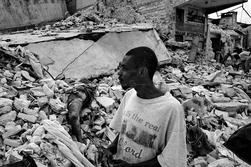 Port Au Prince, Haiti, Jan 23 2010.Eleven days after the disaster, many corpses still litter the ruins of the city..