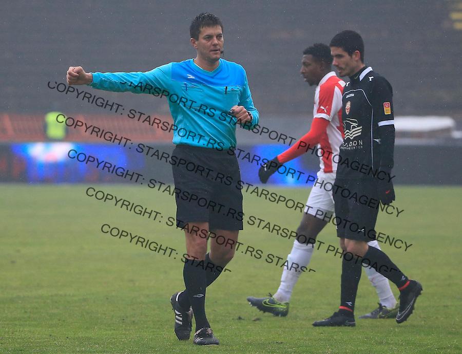 Fudbal Jelen Super League season 2015-2016<br /> Crvena Zvezda v Vozdovac<br /> referee sudija Majo Vukovic<br /> Beograd, 28.11.2015.<br /> foto: Srdjan Stevanovic/Starsportphoto&copy;