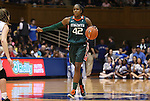 24 February 2012: Miami's Shenise Johnson. The Duke University Blue Devils defeated the University of Miami Hurricanes 74-64 at Cameron Indoor Stadium in Durham, North Carolina in an NCAA Division I Women's basketball game.