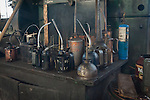 All sizes of oil cans and tools used to restore the railroad cars and engines at the Nevada Northern Railway