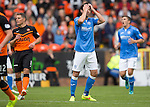 Dundee United v St Johnstone...27.09.14  SPFL<br /> Simon Lappin reacts after his shot goes over the bar<br /> Picture by Graeme Hart.<br /> Copyright Perthshire Picture Agency<br /> Tel: 01738 623350  Mobile: 07990 594431
