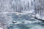 Wenatchee River in Tumwater Canyon.  Wenatchee National Forest, Washington State near Leavenworth