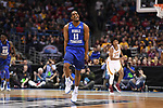 MILWAUKEE, WI - MARCH 16: Middle Tennessee Blue Raiders guard Edward Simpson (11) celebrates during the first half of the 2017 NCAA Men's Basketball Tournament held at BMO Harris Bradley Center on March 16, 2017 in Milwaukee, Wisconsin. (Photo by Jamie Schwaberow/NCAA Photos via Getty Images)
