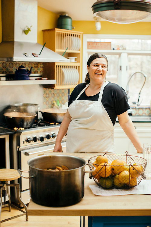 Hillsborough, North Carolina - Thursday March 10, 2016 - April McGreger is the founder of Farmer's Daughter Brand Pickles & Preserves.