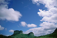 Morro do Pai Inacio table mountain in Chapada Diamantina, Brazilian Highlands, Bahia State, Brazil