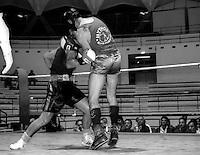 Roma  17 Maggio 1998.Incontro  di boxe dilettanti campionato Regionale.De Paolis (Mytos)  vs Abis Cristiano ( Montesacro III)..