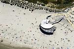 Nederland, Friesland, Ameland, 05-08-2014; Noordzeestrand van Nes. Strandtent.<br /> Wadden island Ameland, North sea beach. <br /> <br /> luchtfoto (toeslag op standard tarieven);<br /> aerial photo (additional fee required);<br /> copyright foto/photo Siebe Swart