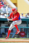 9 March 2012: Philadelphia Phillies outfielder Hunter Pence at bat during a Spring Training game against the Detroit Tigers at Joker Marchant Stadium in Lakeland, Florida. The Phillies defeated the Tigers 7-5 in Grapefruit League action. Mandatory Credit: Ed Wolfstein Photo