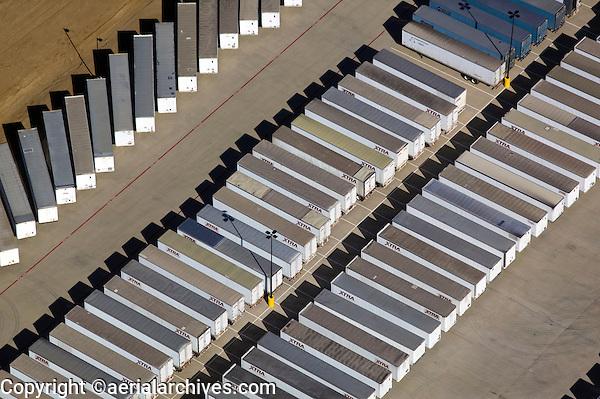aerial photograph of XTRA trailer lease facility, Dallas, Texas