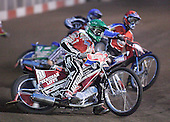 Heat 1 - Andersen (green), Jonsson (red), Tomicek (blue) - Lakeside Hammers vs Peterborough Panthers - Sky Sports Elite League at Arena Essex, Purfleet - 31/08/07  - MANDATORY CREDIT: Gavin Ellis/TGSPHOTO - SELF-BILLING APPLIES WHERE APPROPRIATE. NO UNPAID USE. TEL: 0845 094 6026..