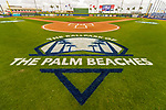 1 March 2017: The freshly painted ballpark logo is displayed behind home plate prior to a Spring Training game between the Miami Marlins and the Houston Astros at the Ballpark of the Palm Beaches in West Palm Beach, Florida. The Marlins defeated the Astros 9-5 in Grapefruit League play. Mandatory Credit: Ed Wolfstein Photo *** RAW (NEF) Image File Available ***
