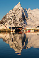 Hamnøy in winter, Lofoten Islands, Norway