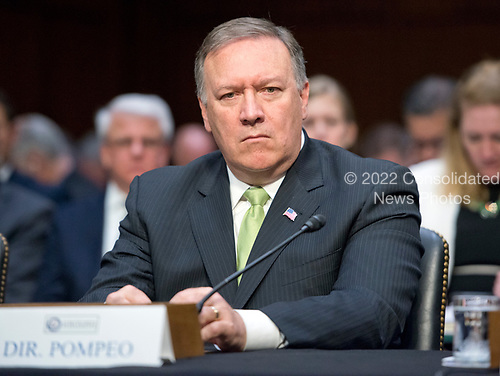 Michael Pompeo, Director of the Central Intelligence Agency (CIA), testifies during the United States Senate Select Committee on Intelligence hearing titled &quot;Worldwide Threats&quot; on Capitol Hill in Washington, DC on Thursday, May 11, 2017.  <br /> Credit: Ron Sachs / CNP<br /> (RESTRICTION: NO New York or New Jersey Newspapers or newspapers within a 75 mile radius of New York City)
