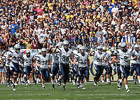 The New Hampshire Wildcats take the field. The Pittsburgh Panthers defeat the New Hampshire Wildcats 38-16 at Heinz Field, Pittsburgh Pennsylvania on September 11, 2010.