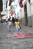Around Quito Old Town during anniversary celebrations December 2009