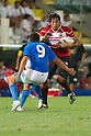 (L-R) Edoardo Gori (ITA), Kosuke Endo (JPN), AUGUST 13, 2011, Rugby : International test match between Italy 31-24 Japan at Dino Manuzzi Stadium, Cesena, Italy, (Photo by Enrico Calderoni/AFLO SPORT) [0391]