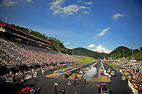 Jun. 17, 2011; Bristol, TN, USA: Overall view of Bristol Dragway during qualifying for the Thunder Valley Nationals. Mandatory Credit: Mark J. Rebilas-