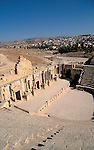 Jordan, Jerash. The South Theatre, the Forum is in the back&amp;#xA;<br />
