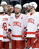 Riley Nash (Cornell - 14), Mike Devin (Cornell - 2) - The University of New Hampshire Wildcats defeated the Cornell University Big Red 6-2 (EN) on Friday, March 26, 2010, in their NCAA East Regional semi-final at the Times Union Center in Albany, New York.