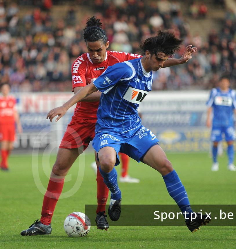 KV Kortrijk - AA .William Barbosa in duel met Bryan Ruiz (rechts).foto David Catry / VDB
