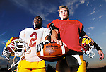 George Conley (left) and Brandon Gorsuch will lead the offensive attack for the Arizona Western College football team this season. The Matadors, ranked No. 24 in the preseason poll, open their schedule on Saturday against No. 4 Snow College (Utah).